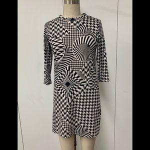 Cheap Monday black and white geometric dress